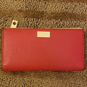 Red leather Kate spade wallet